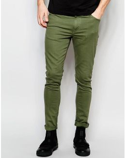 Dark Future Super Skinny Jeans In Green