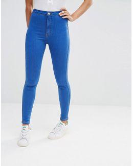 Vice High Waisted Tube Jean