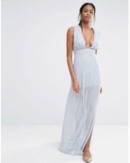 Deep Plunge Maxi Dress