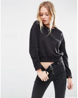 Oversized Cropped Sweatshirt