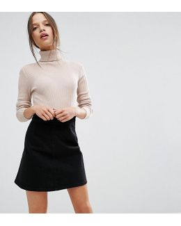 Jumper With High Neck In Rib