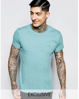 T-shirt With F Logo In Slim Fit In Mint Leaf