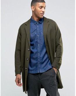 Single Breasted Overcoat Khaki