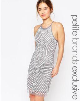 Allover Embellished Cami Shift Dress