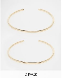 Pack Of 2 Fine Gold Arm Cuffs