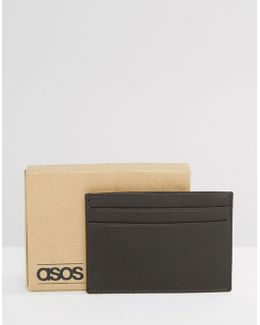 Leather Cardholder In Brown