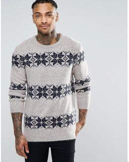 Christmas Jumper With Snowflake Design