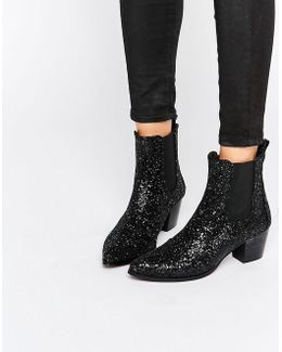 Kg By Kurt Geiger Razzle Glitter Heeled Ankle Boots