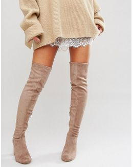 Vegas Heeled Over The Knee Boots