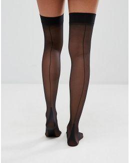 Backseam And Heel Stockings