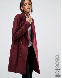 Pea Coat With Seamed Pockets
