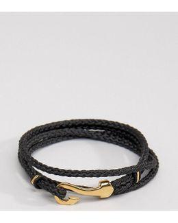 Hook Bracelet In Black Exclusive To Asos