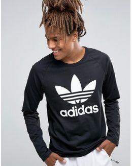 Trefoil Raglan Long Sleeve T-shirt Ay7801