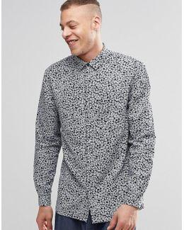 Royal Floral Print Shirt Long Sleeve
