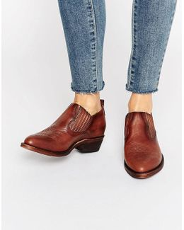 Billy Shootie Western Leather Shoe Boots