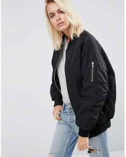 Padded Oversized Bomber Jacket
