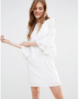 Mia Molls Dress With Frill Sleeves