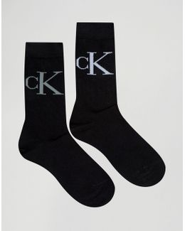 2 Pack Retro Logo Crew Socks