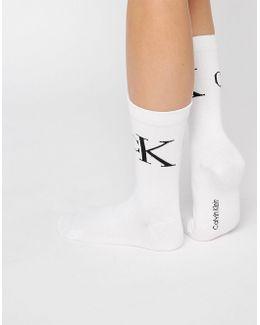 2 Pack Retro Logo Crew Socks