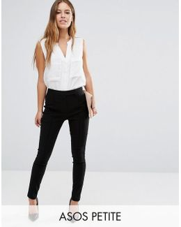 High Waist Trousers In Skinny Fit