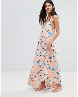 Patterned Maxi Swing Beach Dress