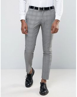 Wedding Check Suit Trousers