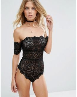 Mya Lace Bardot Body