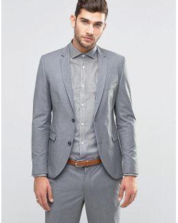 Premium Skinny Suit Jacket In Grey