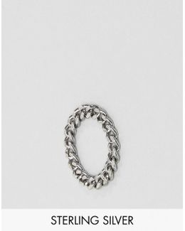 Sterling Silver Curb Chain Ring