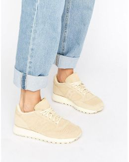 Jazz O Suede Trainers In Beige