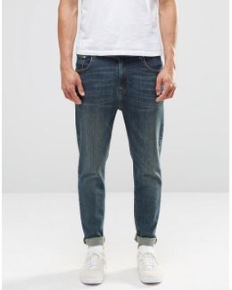 Tapered Jeans In Dirty Blue Wash