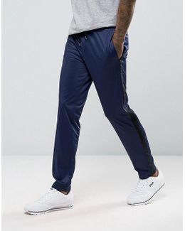 Skinny Track Joggers With Side Stripe