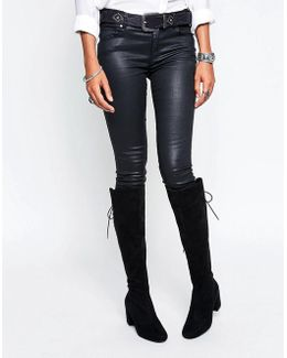 By Dune Sammia Lace Back Over The Knee Boots