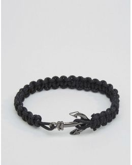 Rope Bracelet With Anchor