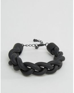 Rubber Bracelet In Black