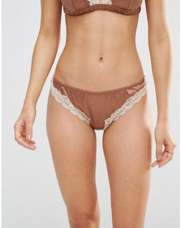 Skye Satin & Lace Thong