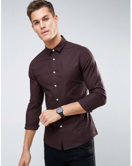 Smart Skinny Oxford Shirt In Purple