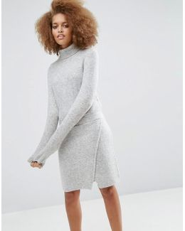 Lounge Knitted Dress With Elasticated Waist