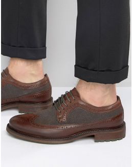 Bongle Leather Derby Brogue Shoes