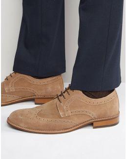 Radcliffe Suede Derby Brogue Shoes