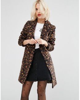 Slim Coat In Leopard Print