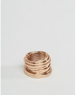Coil Ring In Matt Copper