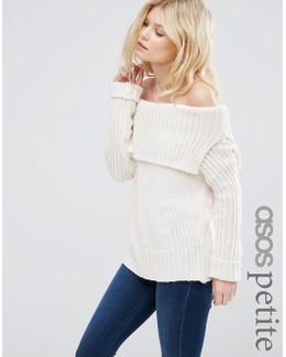 Jumper With Off Shoulder Detail
