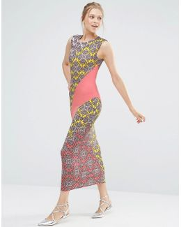 Sintra Print Sheath Midi Dress