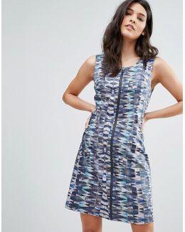 Patterened Zip Through Dress