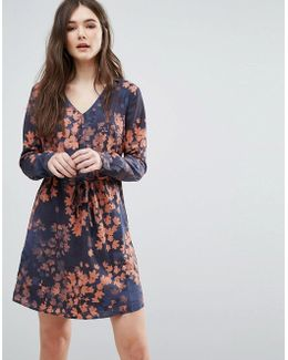 Faded Floral Dress