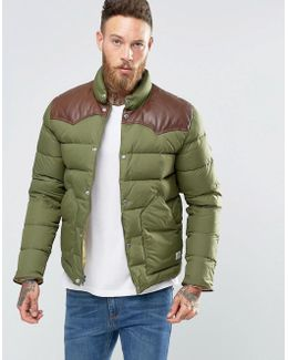 Pelam Down Quilted Jacket Leather Yoke