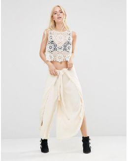 Poppy Petal Trousers With Splits