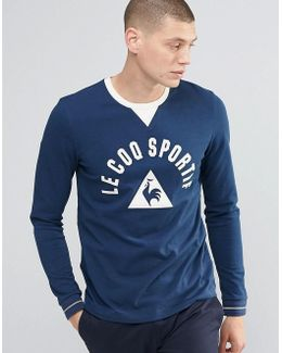 Large Logo Ls T-shirt In Blue 1620580