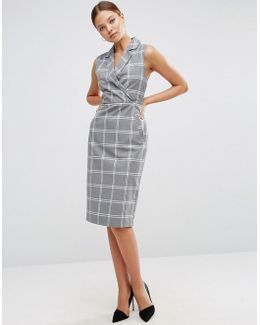 Tux Dress In Grid Check